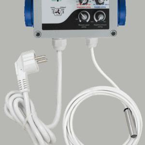 GSE Páratarlatom, Hömérkésklet és Negatív Nyomás Vezérlő (FC12-210) 2 ventilátor 2X5A
